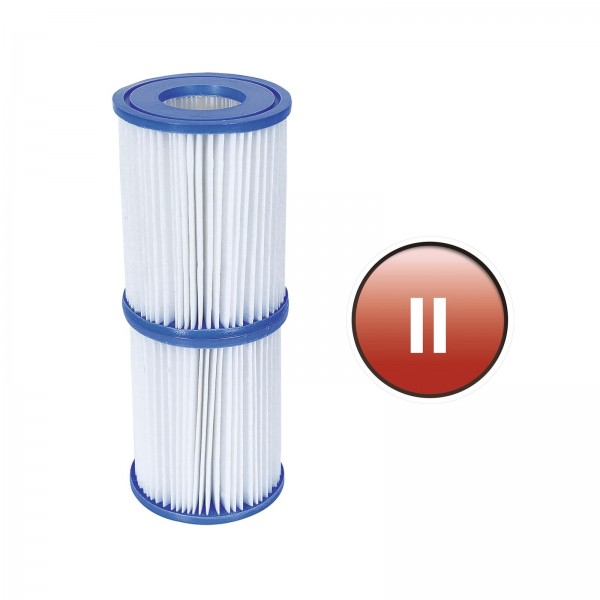 Set Cartus filtru Bestway 58094 Tip II pentru pompa filtrare apa piscina, 10.6 x 13.6 cm/set 2 buc