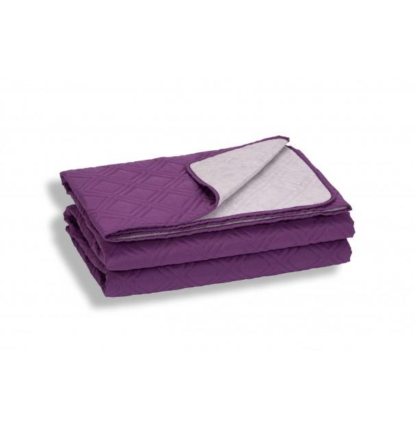 Cuvertura de pat, mov, microfibra soft-touch, 220X240 cm