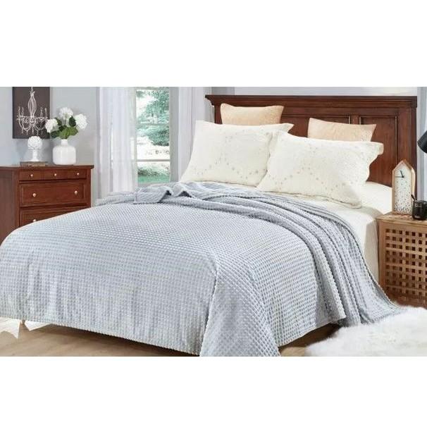 Patura cocolino pentru pat dublu, 200x230 cm, gri