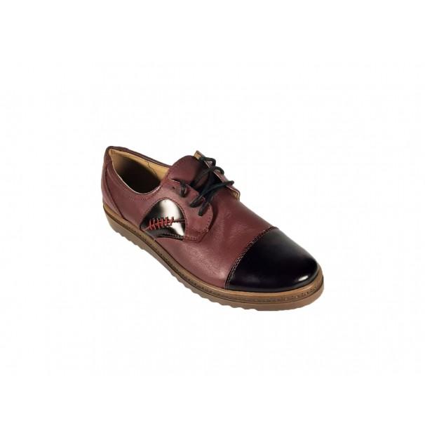 Pantofi casual de femei din piele naturala Cezara Verde marime 36