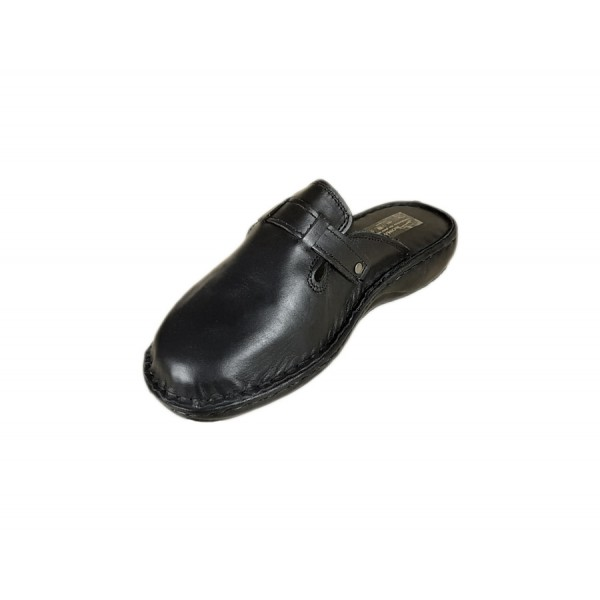 Papuci medicinali de femei din piele naturala Sab Negru marime 37