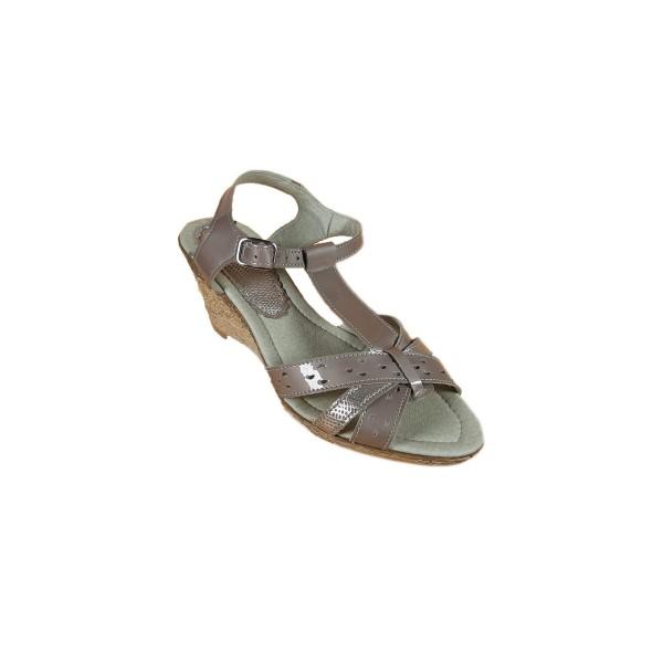 Sandale casual de femei din piele naturala Tea Crem marime 37