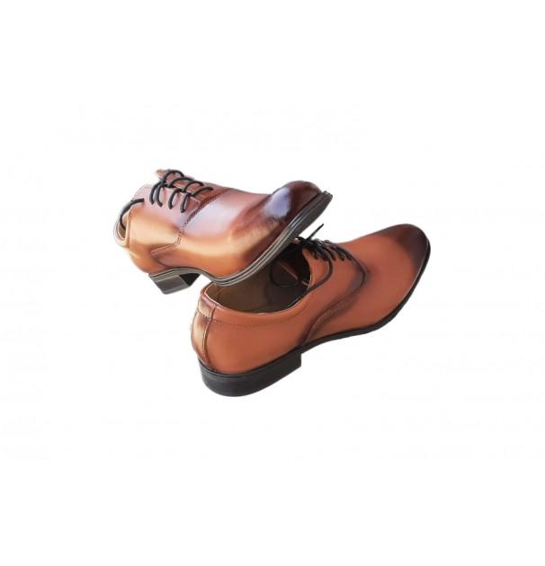 Pantofi eleganti de barbati din piele naturala 1602 Maro marime 41