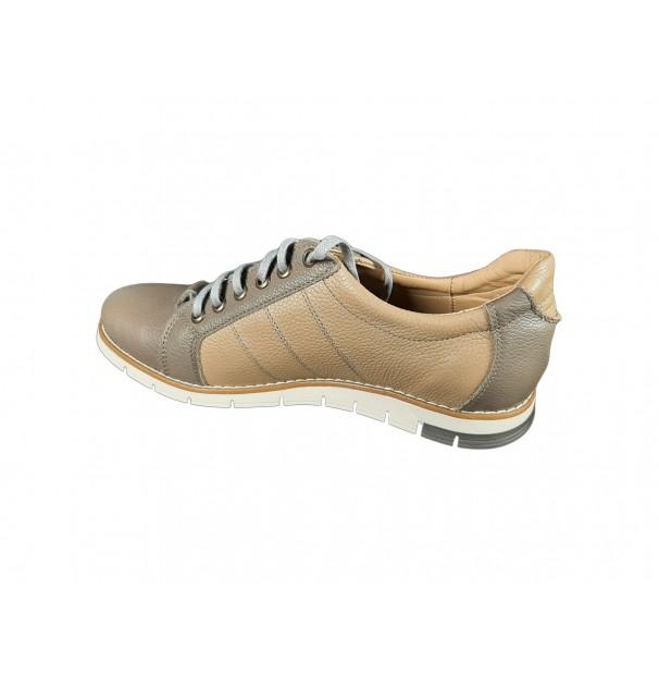 Pantofi casual de barbati din piele naturala Sami Bej marime 42