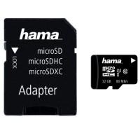 Card de memorie HAMA microSDXC 32GB + adaptor, clasa 10 UHS-I, 80MBs