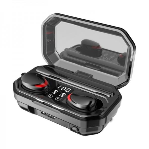 Casca Audio M15 In-Ear, baterie 2000 mAh, Bluetooth TWS 5.1, Pairing automat,Touch Control, True Wireless, Black