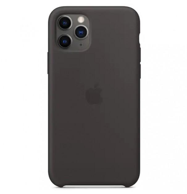 Husa originala APPLE pentru iPhone 11 Pro, silicon, Black