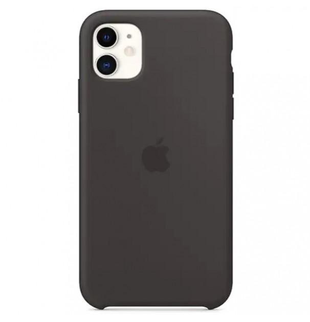 Husa originala APPLE pentru iPhone 11, silicon, Black