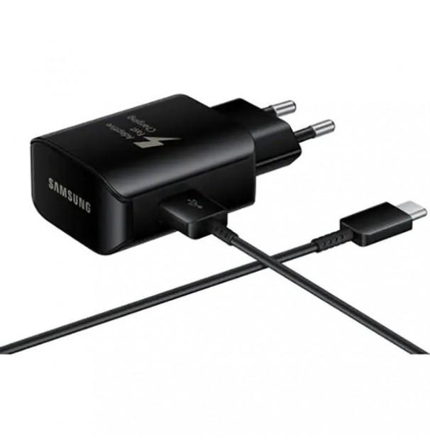 Incarcator Priza Cu Incarcare Rapida SAMSUNG EP-TA300CBEGWW, USB Type C 2A, Negru