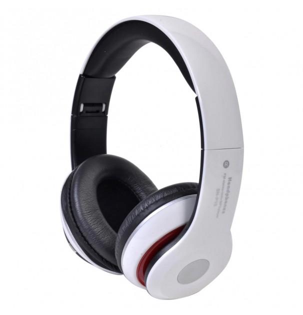 Casca bluetooth cu microfon, pliabile, TF Card/Stereo/MP3 Player/Wireless P15 Alb