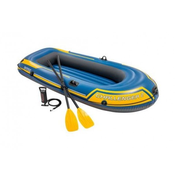 Barca gonflabila Intex Challenger 2, vasle si pompa inclusa, 236 x 114 x 41 cm