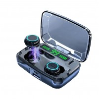 Casti Audio M11 In-Ear, baterie 3300 mAh, Bluetooth 5.0, Pairing automat, Touch Control, True Wireless, Black